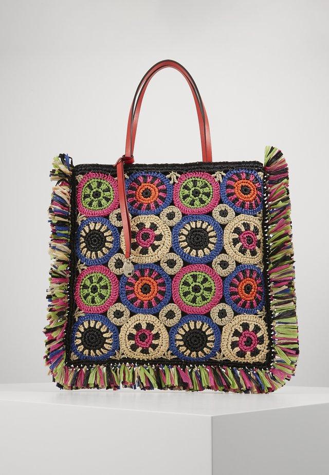 RAFFIA TOTE MULTICOLUR - Shopping bag - black multi