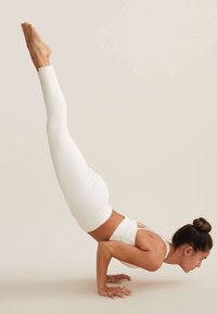 OYSHO - COMFORTLUX  - Leggings - white - 3