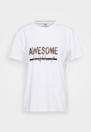 ONLTRACY - Print T-shirt - white