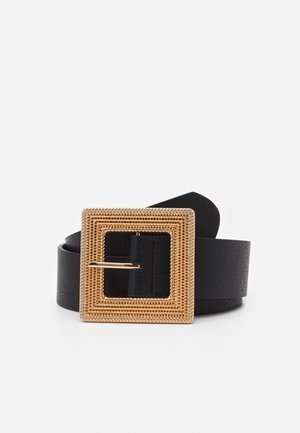 PCMISSE WAIST BELT - Midjebelte - black/gold-coloured