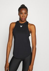 Under Armour - PROJECT ROCK TANK - Sports shirt - black - 0