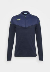 JAKO - ZIP CHAMP 2.0 - Fleece jumper - marine/blue/neongelb - 0