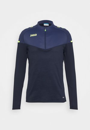 ZIP CHAMP 2.0 - Fleece jumper - marine/blue/neongelb