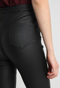 Missguided - VICE HIGH WAISTED  - Kalhoty - coated black - 5