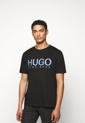 DOLIVE - Print T-shirt - black/blue