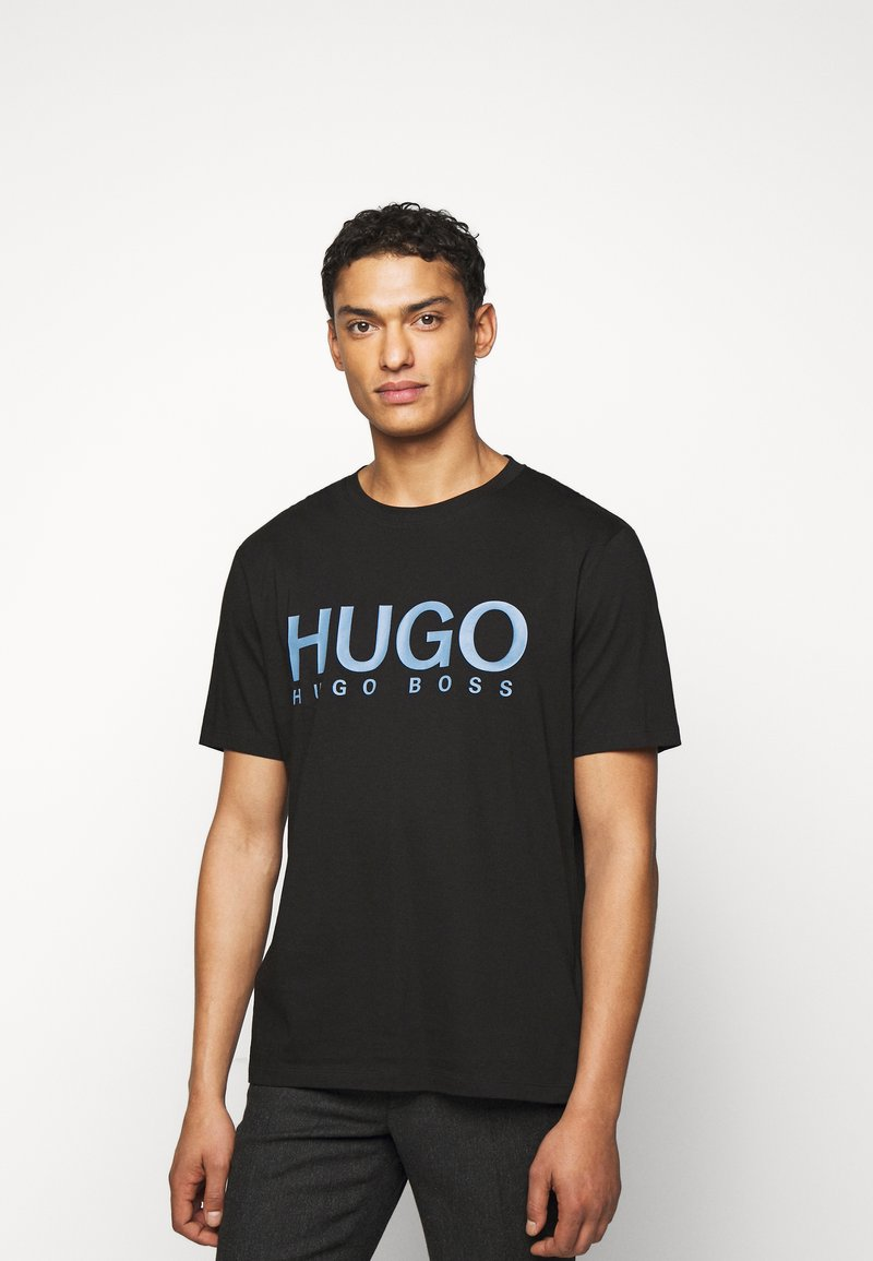 HUGO - DOLIVE - Print T-shirt - black/blue
