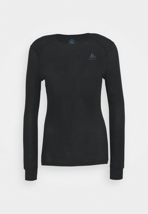 CREW NECK ACTIVE WARM - Undershirt - black