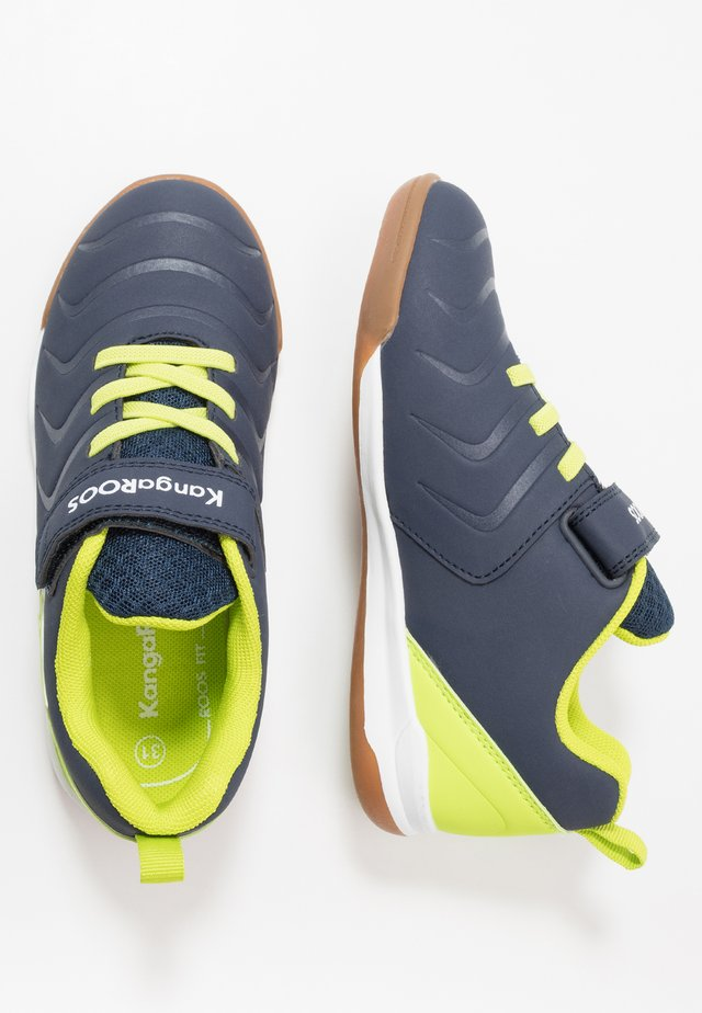 SPEED COMB - Sneakers laag - dark navy/lime
