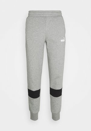 COLORBLOCK PANTS - Tracksuit bottoms - medium gray heather