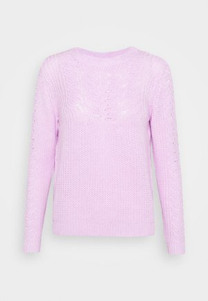 POINTELLE CABLE  - Maglione - lilac