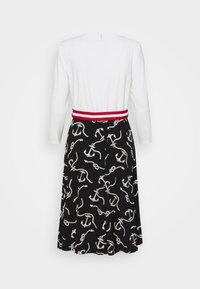Lauren Ralph Lauren - PRINTED MATTE DRESS BELT - Day dress - black/col cream - 6