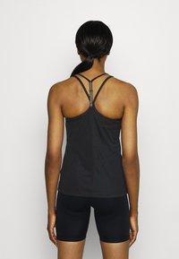 Nike Performance - FEMME ELASTIKA TANK - Toppe - black/metallic gold - 2