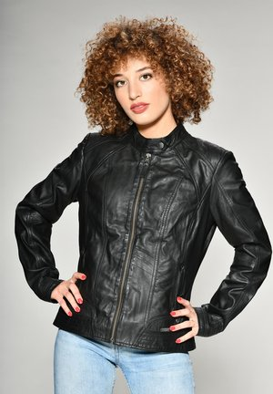 BLANCA - Leather jacket - black