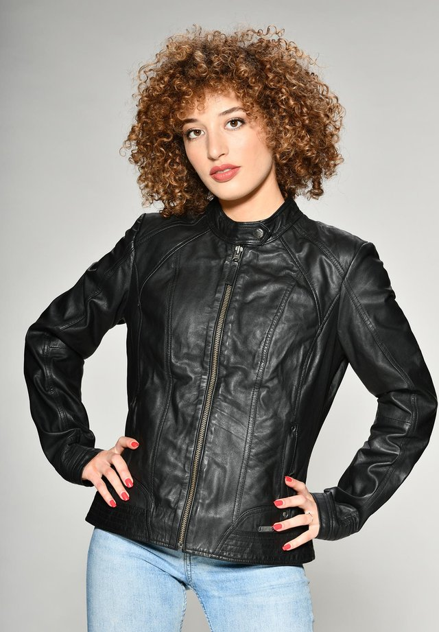BLANCA - Leren jas - black