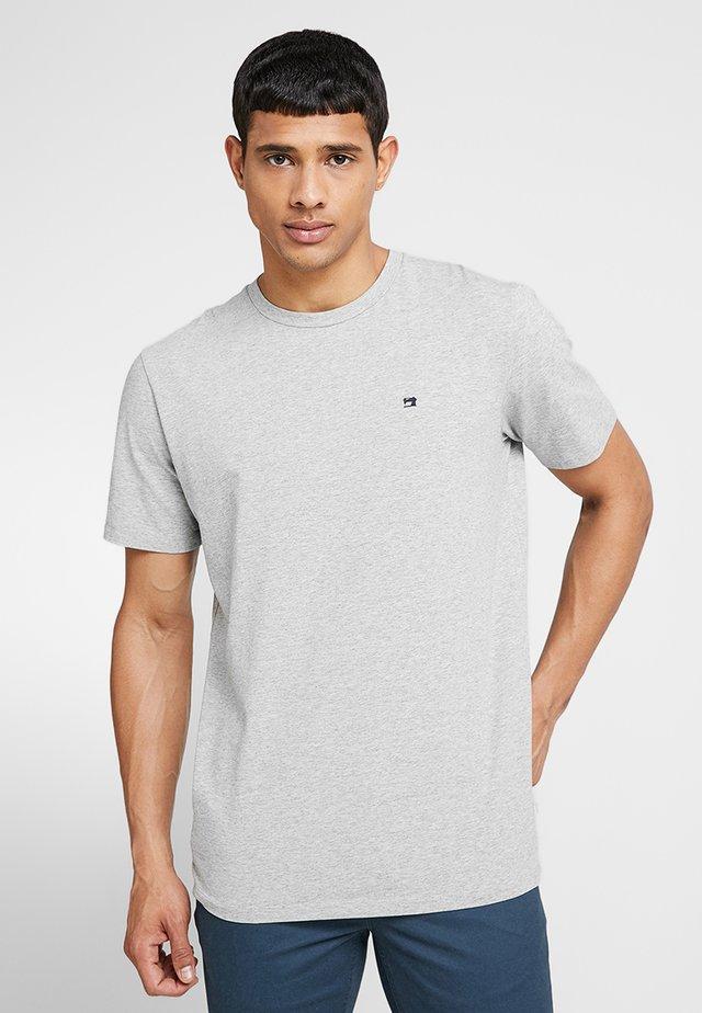 CREW NECK TEE - Camiseta básica - grey melange