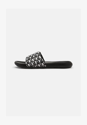 VICTORI ONE SLIDE PRINT - Pantofle - black/white