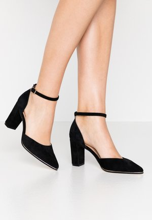 LEATHER - Tacones - black