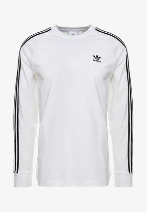3 STRIPES UNISEX - Long sleeved top - white