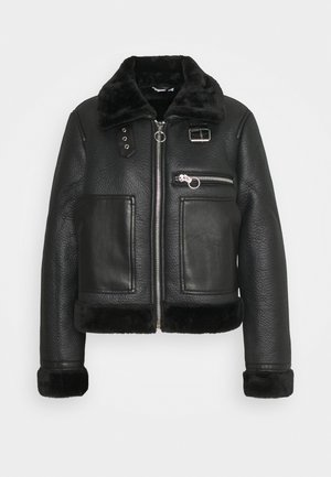 AMIE - Faux leather jacket - black