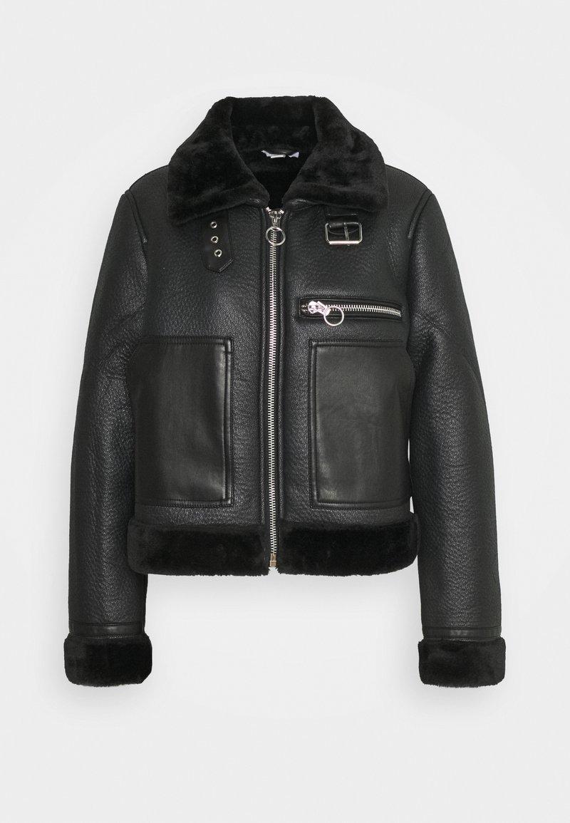 Topshop - AMIE - Faux leather jacket - black