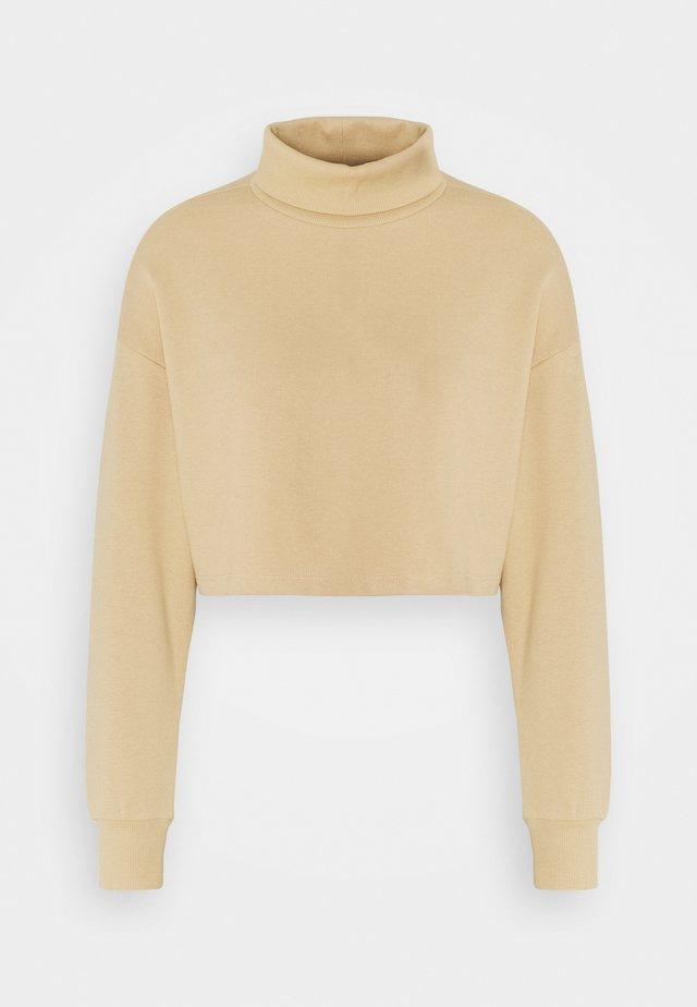ONLMILA CROPPED PETIT - Sweatshirt - warm sand