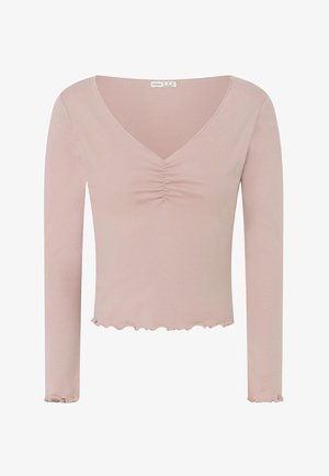 V-NECK - Pyjama top - rose