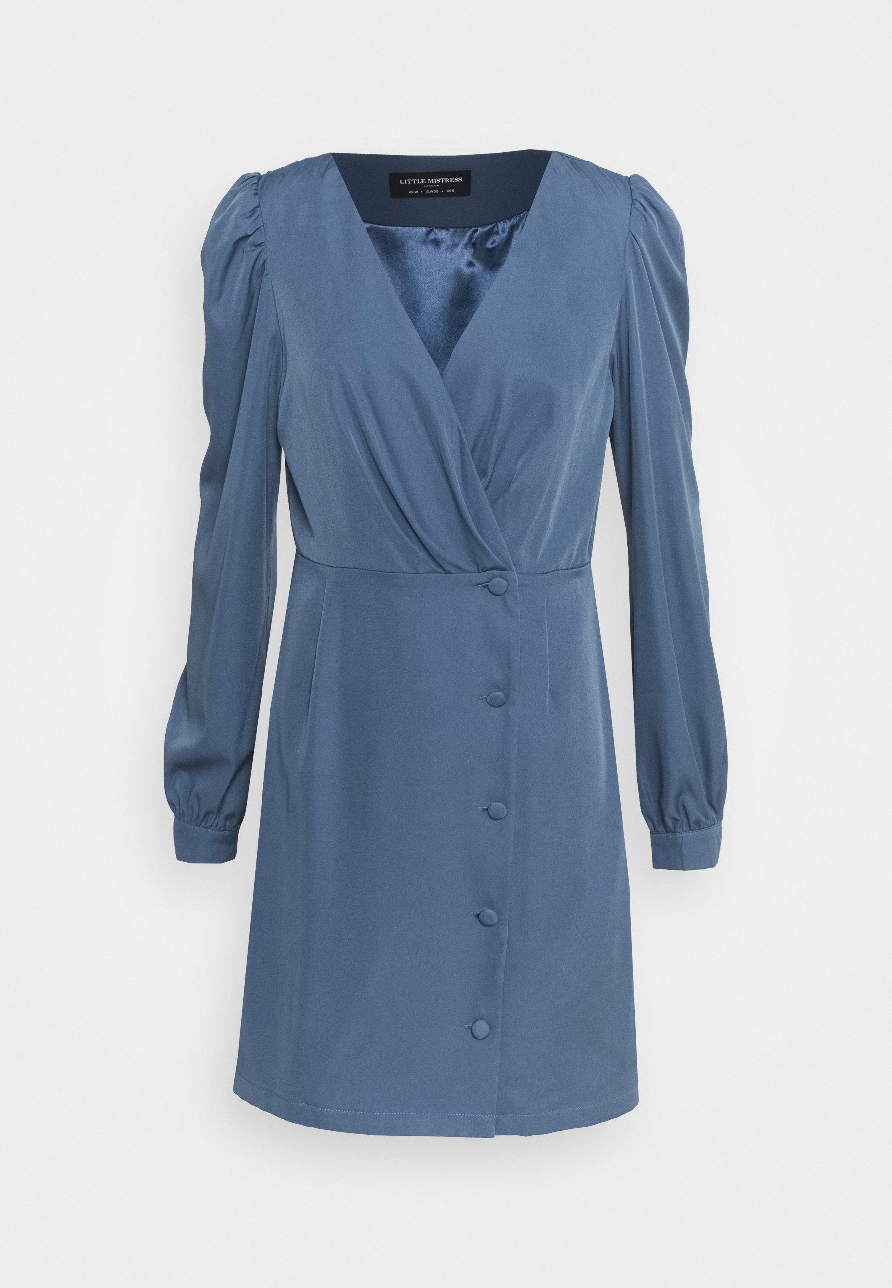Jolie été Basic Robe Taille 54//56 Jersey Robe Shirt Robe Cotton Royal Bleu