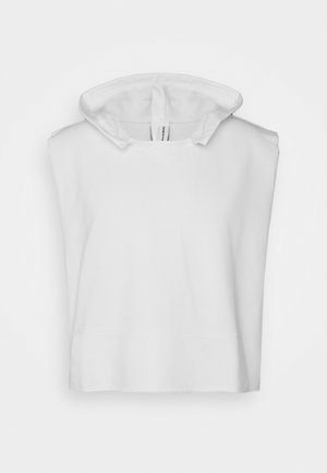 UNISEX SLEEVELESS HOODIE - Sweat à capuche - white