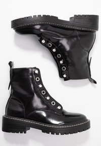 ONLY SHOES - ONLBOLD LACE UP BOOTIE - Lace-up ankle boots - black - 3