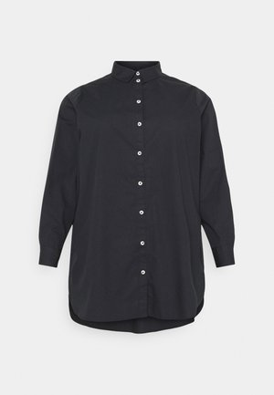 PCNOMA LONG SHIRT - Button-down blouse - black