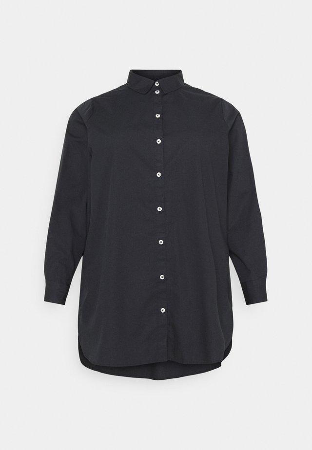 PCNOMA LONG SHIRT - Overhemdblouse - black