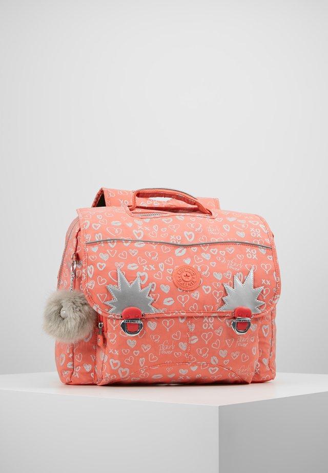 INIKO - School bag - hearty pink mett