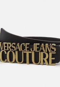 Versace Jeans Couture - LETTERING BUCKLE - Pásek - nero - 4
