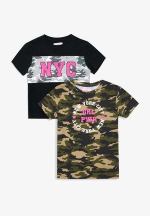 MIA - T-shirt print -  khaki x black