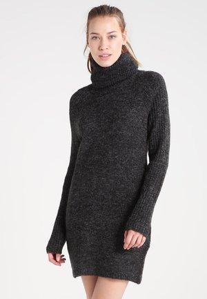 OBJNONSIA - Shift dress - dark grey melange
