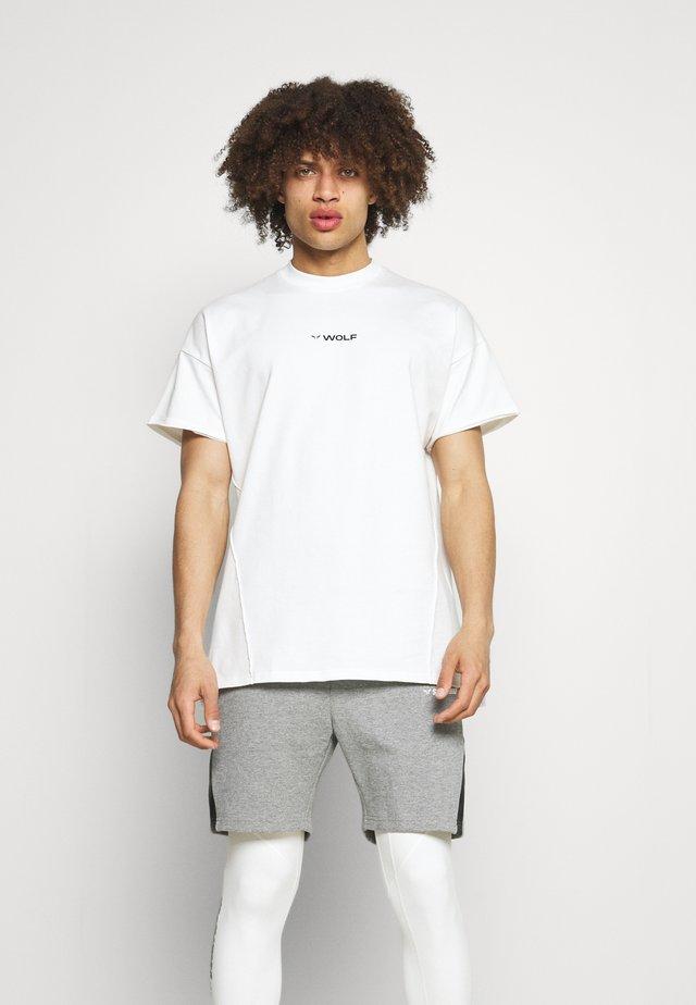 BODYBUILDING TEE - T-shirt imprimé - white