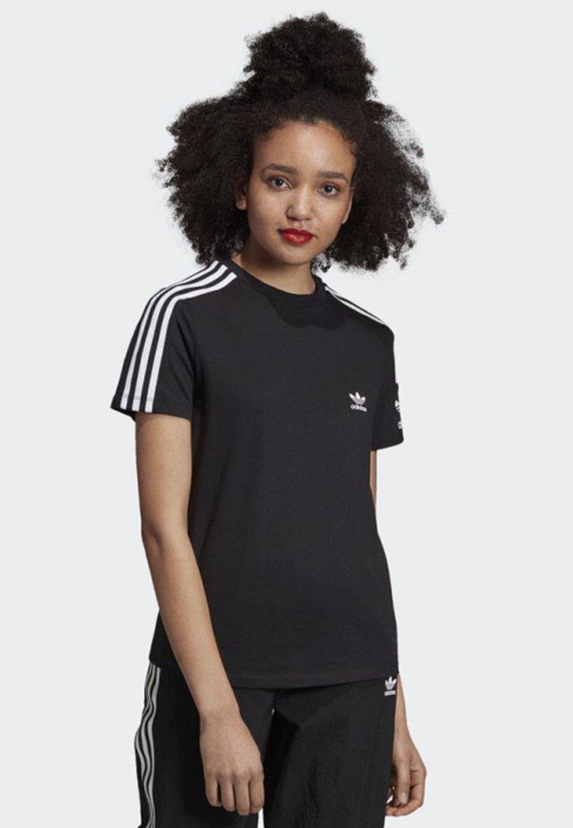 3-STRIPES T-SHIRT - Print T-shirt - black