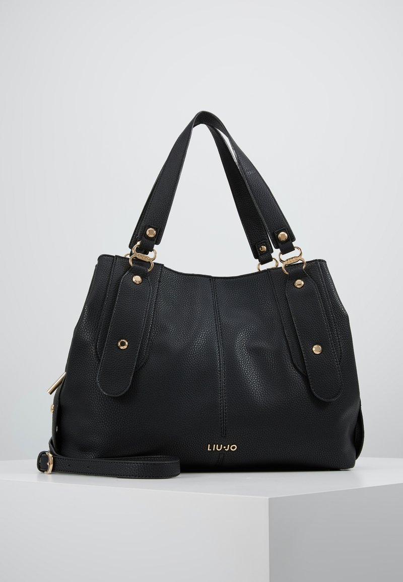 LIU JO - SATCHEL COFFEE MILK - Håndtasker - black
