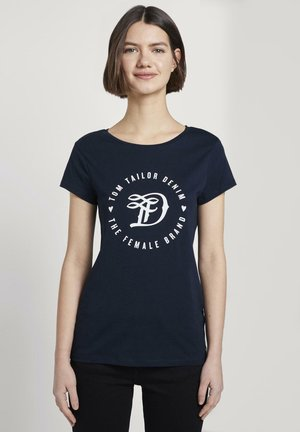 MIT PRINT - T-shirt print - real navy blue