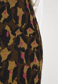 Diane von Furstenberg - LORNA SKIRT - Mini skirt - giant cocoa brown - 5