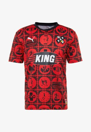 AMSTERDAM - Print T-shirt - red/black