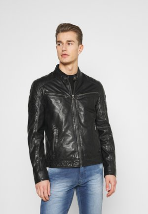 DERRY - Leather jacket - schwarz