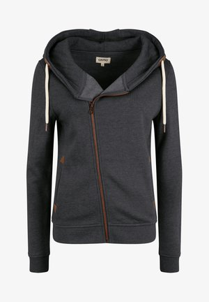 VICKY - Sweat à capuche zippé - dar grey m