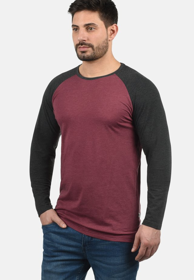 Langærmede T-shirts - wine red m