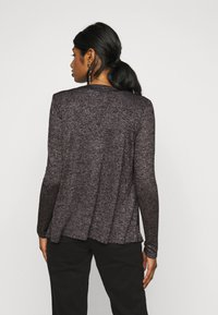 Vero Moda Petite - VMBRIANNA DRAPY - Cardigan - dark grey melange - 2