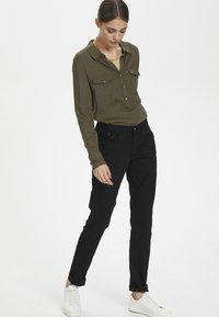 Cream - LOTTECR - Slim fit jeans - pitch black - 1