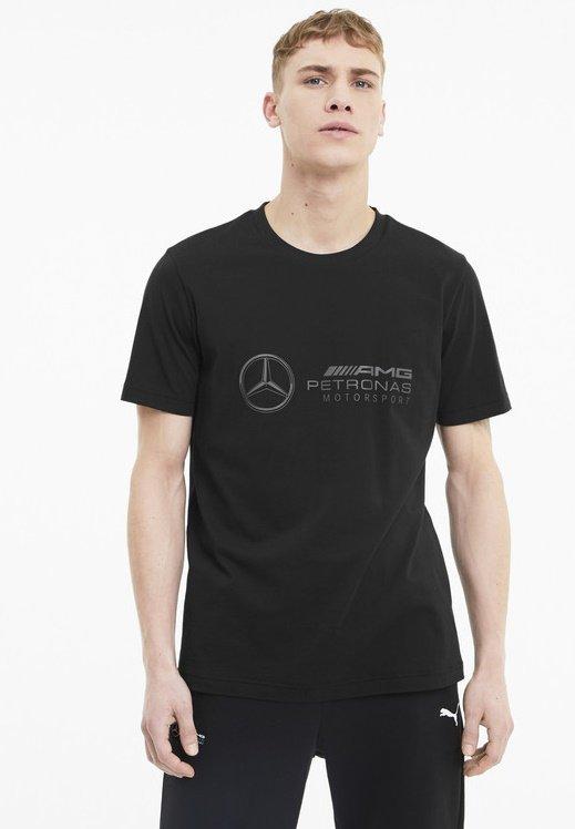 Puma - LOGO TEE - Print T-shirt - black