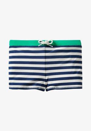 Swimming trunks - tiefseeblau/weiß