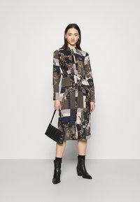 Vero Moda - VMHILDA CALF DRESS - Day dress - navy blazer/hilda - 1