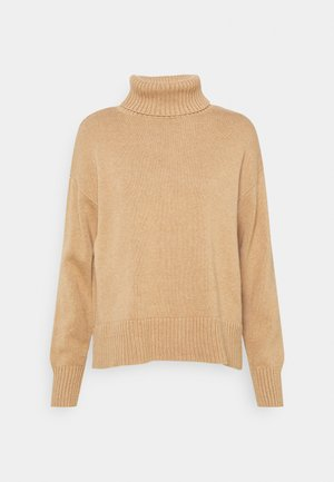 CROP OVERSIZED TNECK - Pullover - classic camel